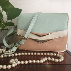 Aldo Green Tan Shoulderbag